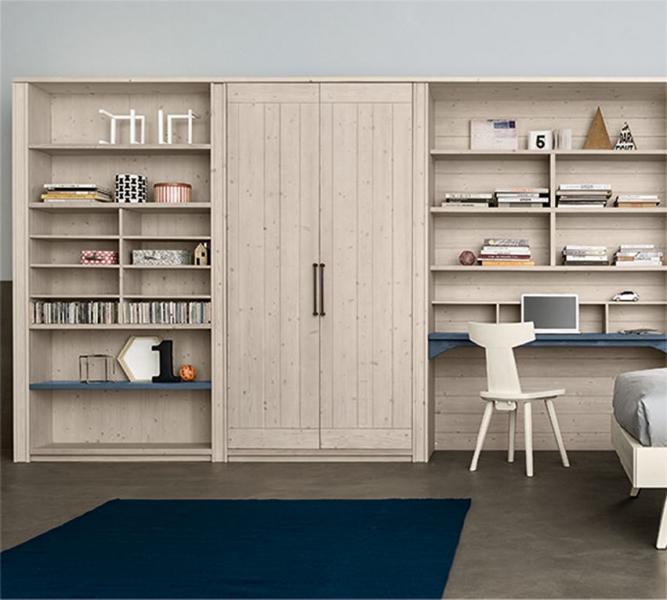 Armadio con scrivania e libreria annessa
