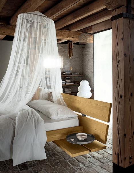 Camera in legno massiccio di abete