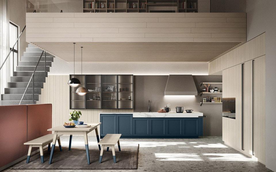 Cucina blu Maestrale