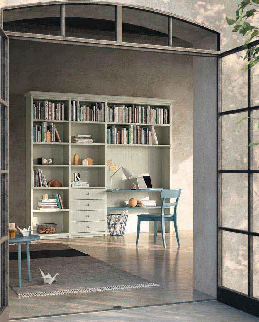 Libreria con scrivania cameretta